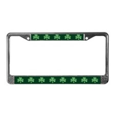 Retro St Patricks Day Shamrock License Plate Frame