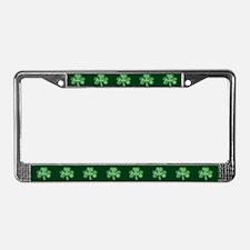 Retro St Patricks Day Shamrock License Plate Frame