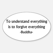 Understand and Forgive Oval Decal