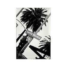 Santa Monica California Rectangle Magnet