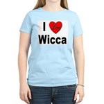 I Love Wicca (Front) Women's Pink T-Shirt