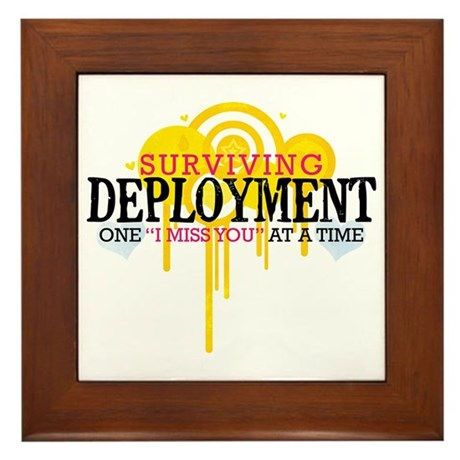 Deployment (I Miss You) Framed Tile