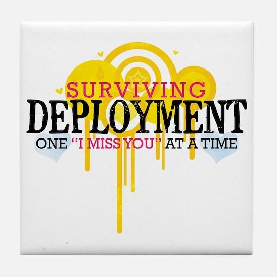 Deployment (I Miss You) Tile Coaster