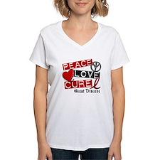 PEACE LOVE CURE Heart Disease Shirt Shirt
