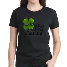 Lucky In Love With My Marine Tee