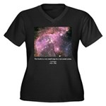 Carl Sagan O Women's Plus Size V-Neck Dark T-Shirt