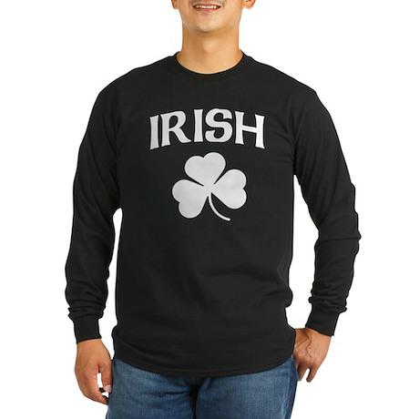 Irish Shamrock Long Sleeve Dark T-Shirt