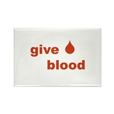 Give Blood Rectangle Magnet