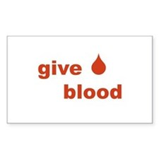 Give Blood Rectangle Decal