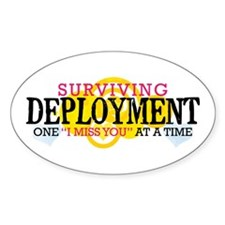 Deployment (I Miss You) Oval Decal