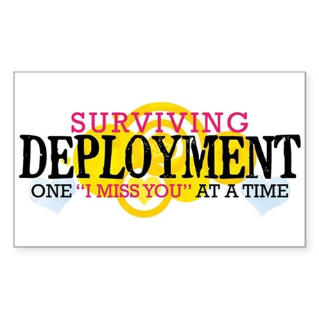 Deployment (I Miss You) Rectangle Sticker