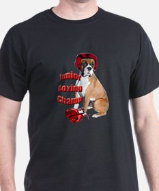 Boxer dog in boxing gloves T-Shirt