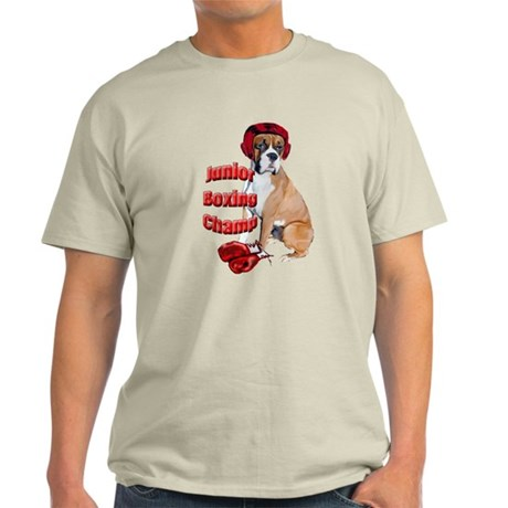 Boxer dog in boxing gloves Light T-Shirt