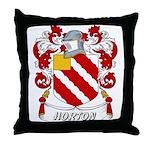 Horton Coat of Arms Throw Pillow