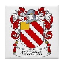 Horton Coat of Arms Tile Coaster