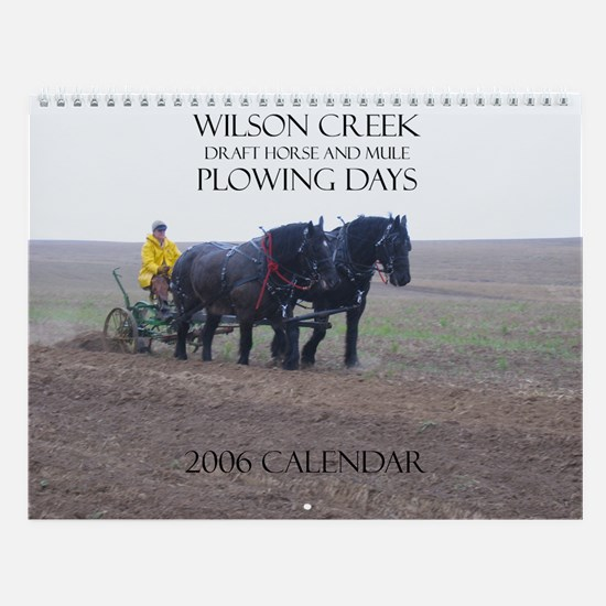Wilson Creek Plowing Days Wall Calendar