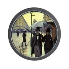 Paris Street Rainy Day by Caillebotte Wall Clock
