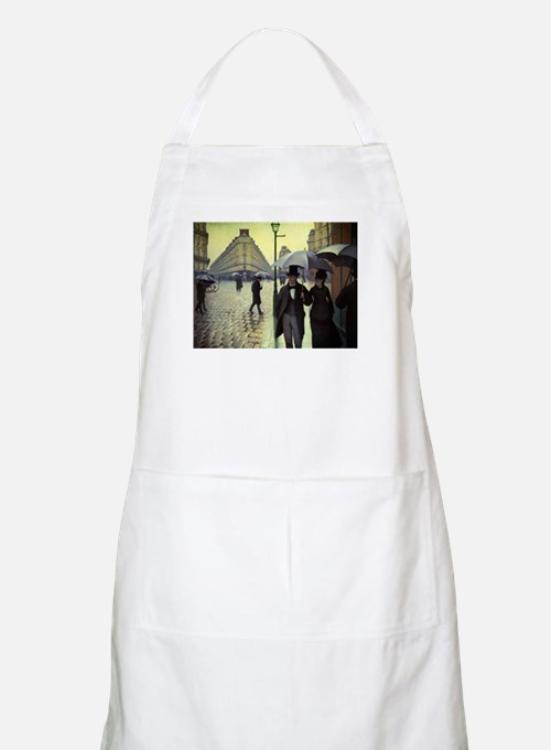 Paris Street Rainy Day by Caillebotte Apron