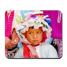 Pretty Peruvian Girl - Mouse Pad