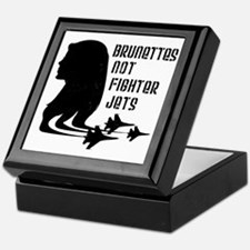 Brunettes Not Fighter Jets 2 Keepsake Box