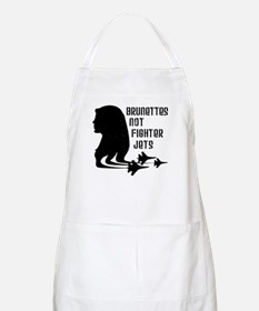 Brunettes Not Fighter Jets 2 BBQ Apron