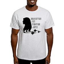 Brunettes Not Fighter Jets 2 T-Shirt