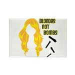 Blondes Not Bombs Rectangle Magnet (10 pack)