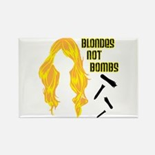 Blondes Not Bombs Rectangle Magnet