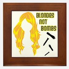 Blondes Not Bombs Framed Tile