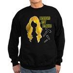 Blondes Not Bombs Sweatshirt (dark)