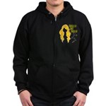 Blondes Not Bombs Zip Hoodie (dark)
