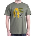 Blondes Not Bombs Dark T-Shirt