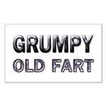 Grumpy Old Fart Rectangle Sticker