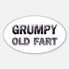 Grumpy Old Fart Oval Decal