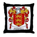 Howell Coat of Arms Throw Pillow