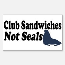 Club Sandwiches... Rectangle Decal