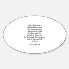 LEVITICUS 27:6 Oval Decal