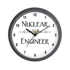 Nuclear Engineer Line Wall Clock