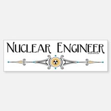 Nuclear Engineer Line Bumper Bumper Bumper Sticker