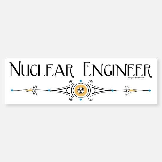 Nuclear Engineer Line Bumper Bumper Bumper Sticker