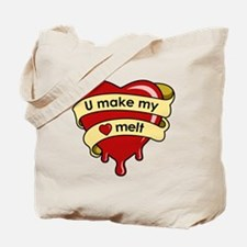 """""""U Make My Heart Melt"""" Tote Bag"""