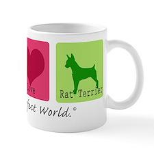 Peace Love Rat Terrier Mug