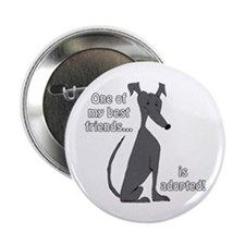 """Adopted ~ Black 2.25"""" Button"""