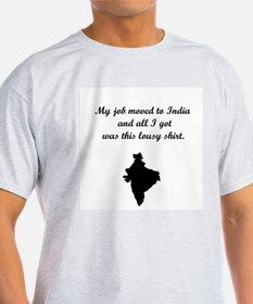 Job to India (Solid Graphic) T-Shirt