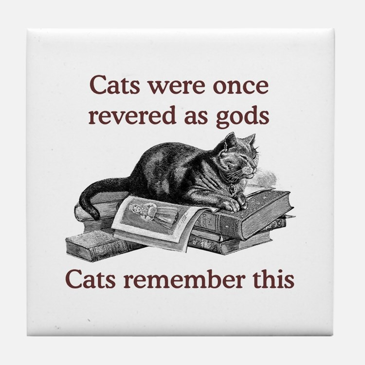 Cats As Gods Tile Coaster