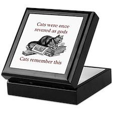Cats As Gods Keepsake Box