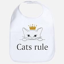 Cats Rule Bib