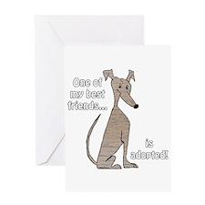 Adopted ~ Brindle Greeting Card