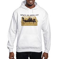 NBlk Where RU Hoodie Sweatshirt