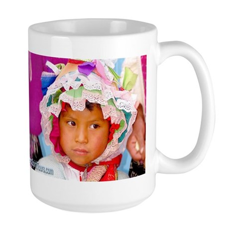 Pretty Peruvian Girl - Large Mug